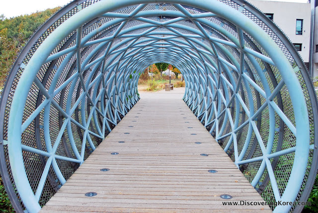 Sculptural Bridge at Heyri Artists Village in Paju Korea.