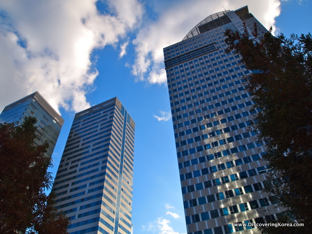 Skyscrapers at Seoul Digital Media City.