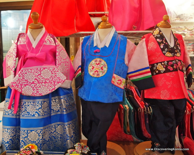 Traditional hanbok on sale from Gwangjang Traditional Market in Seoul